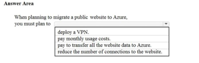 Microsoft Azure Fundamentals Question 7