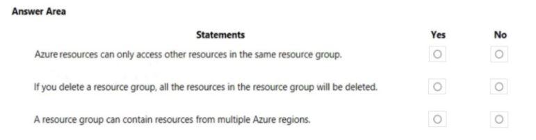 Microsoft Azure Fundamentals AZ-900 Question 45