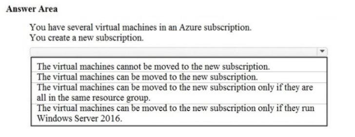 Microsoft Azure Fundamentals AZ-900 Question 56