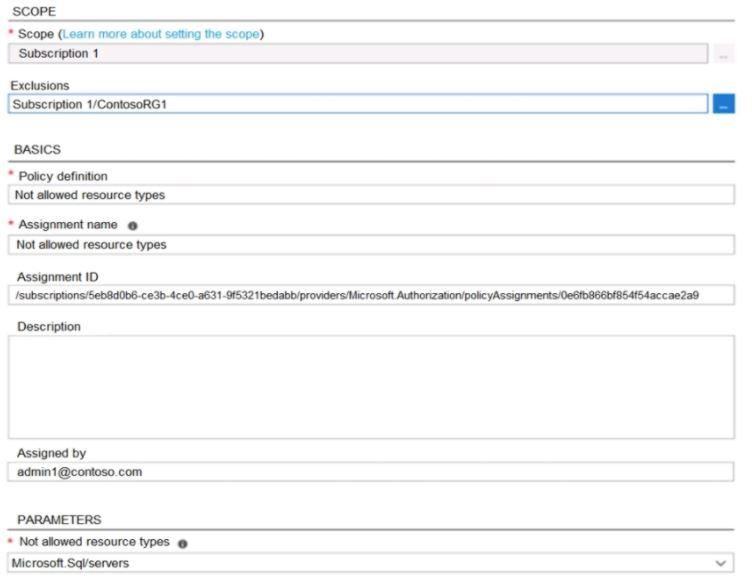 Microsoft Azure Administrator AZ-104 Question 9